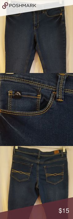 """Jordache SZ 14 1/2 Plus Skinny capris Very stretchy and comfortable """"mom"""" jeans.  I am petite, so they fit me as regular jeans, the length is 24 inches.  Waist to inseam is 8 inches. Jordache Jeans Ankle & Cropped"""