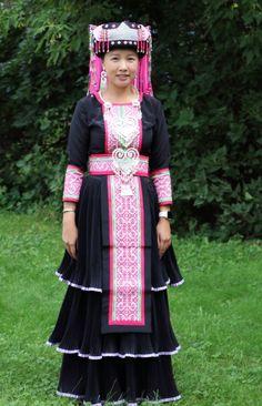 Layered long Hmong dress