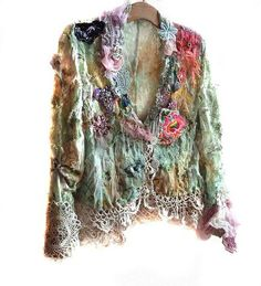 incredible jacket!!! matches the doily scarf