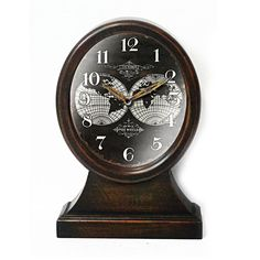 Brown Global Face Clock- 13-in