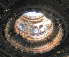 "sarahs-delights: "" Dome in the Founder's Building of the Fitzwilliam Museum in Cambridge. """