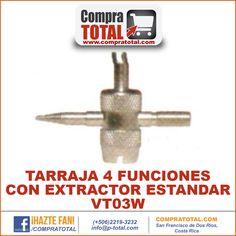 #CompraTotal - #HerramientaManualCostaRica TARRAJA 4 FUNCIONES CON EXTRACTOR ESTANDAR VT03W