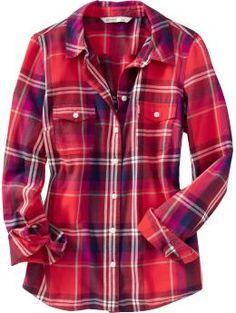 Women's Plaid Flannel Shirts #redmywardrobe