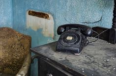 One way telephone in abandoned hotel NY