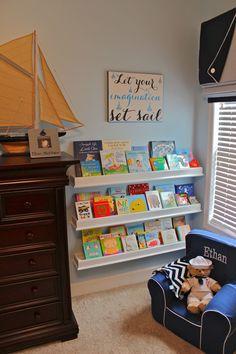 Book wall in nursery!