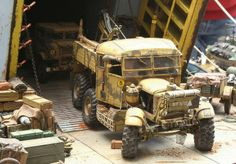 Unloading 1/35 Scale Model Diorama