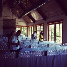 Prepping the #Oregon #Chardonnay Symposium   #thesearch #orwine (at Oregon Olive Mill)