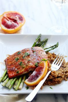 Orange Glazed Salmon ~ http://www.grandbaby-cakes.com