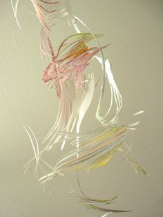 Dragon's Breath - Hanging Paper Sculpture by tinymishaps at Etsy