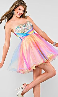 Rainbow Prom Dresses - Prom Dresses and Designer Eveningwear ...