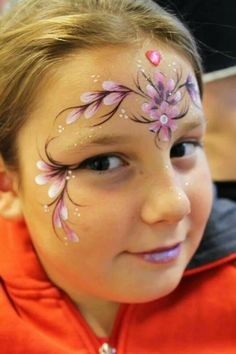 One stroke flower petals Face Painting Images, Face Painting Flowers, Girl Face Painting, Face Painting Designs, Painting For Kids, Paint Designs, Body Painting, Flower Tiara, Flower Petals