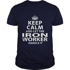 IRON WORKER T-Shirts, Hoodies. Get It Now ==► https://www.sunfrog.com/LifeStyle/IRON-WORKER-106168021-Navy-Blue-Guys.html?id=41382