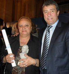 Venecia Rippari junto al Senador Nacional por Mendoza Adolfo Bermejo.