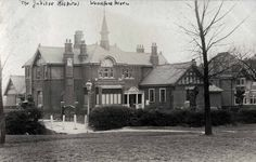 https://flic.kr/p/dwNscw | Woodford Green Jubilee Hospital | This was opened in 1899 and celebrated Queen Victoria's Diamond Jubilee, and extended in 1911. This card posted 1904. Surprisingly, given it's small size, it survived to 1986, and after being closed was demolished. More details:-  ezitis.myzen.co.uk/woodfordjubilee.html