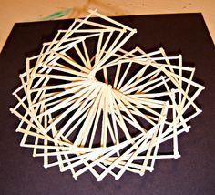 Toothpick Sculpture art lesson plan: linear toothpick sculpture | high school art