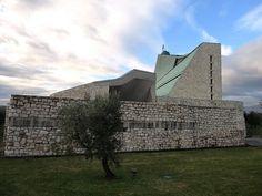 Giovanni Michelucci - Chiesa di S. Giovanni Battista (chiesa dell'autostrada)1960-64, Campi Bisenzio (Firenze) | Flickr - Photo Sharing!