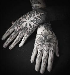 snowflake hands tattoo @alex_tabuns