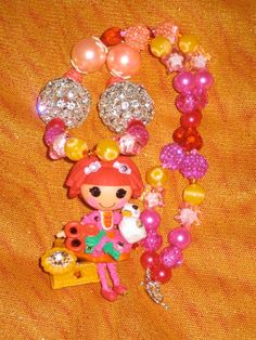 Lalaloopsy Tippy Tumblelina harajuku kawaii decoden deco den ball chain necklace