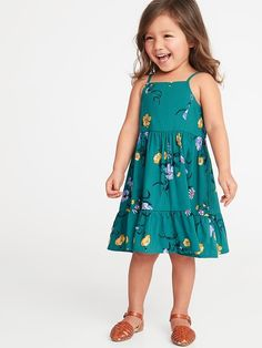 e3108573acb4b1 Tiered Floral-Print Cami Dress for Toddler Girls