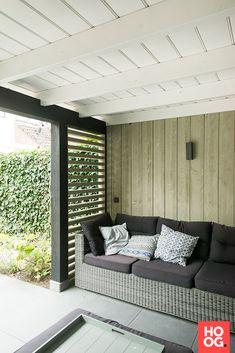 Buitenpracht Houtbouw - Houten veranda zwart wit - Hoog ■ Exclusieve woon- en tuin inspiratie.
