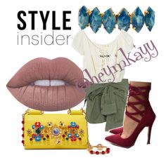 """Style Insider."" by missmkayy on Polyvore featuring Dolce&Gabbana, Lime Crime, Elizabeth Cole, Faith Connexion, Jens Pirate Booty, contestentry, styleinsider and PVStyleInsiderContest"