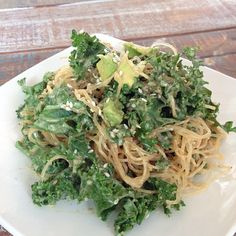 Tomorrow on cheap clean eats you are going to learn how to make my fave dish from Cafe Gratitude - the peanut miso kelp noodle entree. A serving of kelp noodles is only 6 calories with so much. Kelp Noodles, Veggie Noodles, Cafe Gratitude, Plant Diet, Clean Eating, Healthy Eating, Raw Vegan Recipes, Vegetarian Recipes, Grilling Gifts