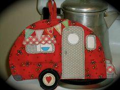 Camping Potholder, Camper potholder, Little teardrop, TAB Camper, Ready to ship
