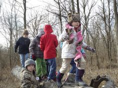Acting like wildlife detectives, 21 children ages 6 to 11 went searching for evidence of life amid the stark winter landscape of Central Illinois.