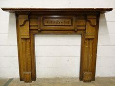 Columbus Architectural Salvage - Antique Wood Fireplace Mantel