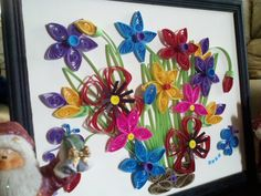 Quilled Art  OOAK  Quilling247  Colorful Floral by Quilling247, $35.00