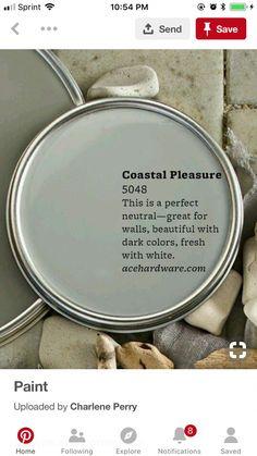 Coastal pleasure Ace hardware #Coastalbedrooms Paint Colors For Home, Cabin Paint Colors, Coastal Paint Colors, House Colors, Paint Colours, Paint Color Schemes, Interior Paint Colors, Room Colors, Favorite Paint Colors