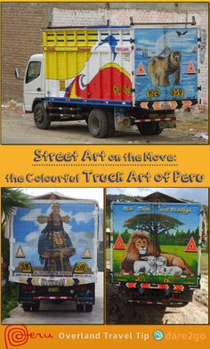 We didn't find much 'real' street art in Peru, but on the other hand we noticed the unique art they paint onto their truck bodies. After a while, we decided to document these moving pieces of art and publish a gallery – a little tongue in cheek, we classified it as 'street art'. Have a look and be surprised by the many different motifs Peruvians decorate their trucks with!