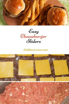 Easy Cheeseburger Sliders Recipe: These make a HUGE batch and cooks in the oven. Are you a fan of Cheeseburgers from Krystals or White Castles? If so, you will love these cute, fun, delicious oven baked sliders.
