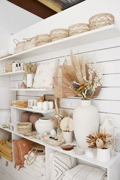 You know we have a thing for soft, natural colour palettes, but what's your favourite colour at the moment? Boutique Interior, Boutique Decor, Boho Boutique, Recycled Timber Furniture, Deco Boheme Chic, Interior Decorating, Interior Design, Decorating Ideas, Shop Interiors
