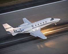XLS+ on Runway - Cessna Citation Jet