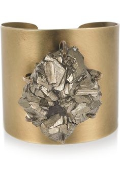 """I remember asking """"adults"""" why we couldn't make jewelry out of """"fools gold""""  ~ kelly wearstler pyrite cluster cuff"""