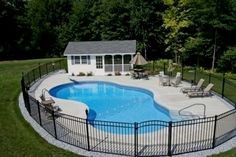 View our Mountain Pond Inground Pool Gallery. Juliano's Pools can help you w… View our Mountain Pond Inground Pool Gallery. Juliano's Pools can help you with your pool project, we serve Western Massachusetts, Connecticut, and Rhode Island Backyard Pool Landscaping, Backyard Pool Designs, Small Backyard Pools, Pool Fence, Swimming Pools Backyard, Ponds Backyard, Outdoor Pool, Landscaping Ideas, Fence Around Pool