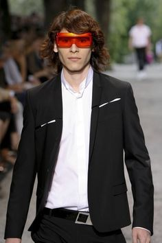 SS09 Dior Homme RARE PLANISPHERE Slashed Sheen Runway Jacket Blazer SZ 48 EUC #OneButton #DIORHOMME