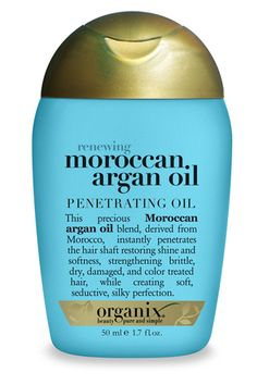 You'll be tempted to stop using this once winter dryness finally leaves us, but keep it up all year for constantly healthy hair.     Organix Travel Size Extra Strength Moroccan Argan Oil Penetrating Oil, $3.99, available at Ulta.