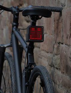 Fancy - Bike Light – LED Dot Matrix Cycle Light by Fraser Mort Bicycle Lights, Bike Light, Mtb Bike, The Real World, Cool Bikes, Just In Case, Design Inspiration, Cool Stuff, Wheels