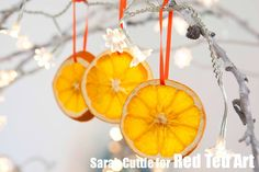 Simple traditional ornaments: How to dry orange slices! Kids can help too!