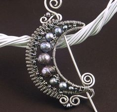 Moon Brooch with Pearls by MaryTucker, via Flickr