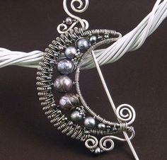 Moon Brooch with Pearls by MaryTucker, via Flickr