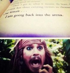 my reaction when i read this :P x) the hunger games :)