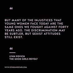 "Image result for ""Injustice hurts good girls revolt quote"