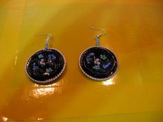 Orecchini neri e azzurri - fatti con capsule Nespresso