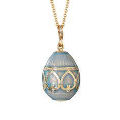 Fabergé Palais Sky Blue Pendant #Fabergé #FabergéEgg #pendant #enamel