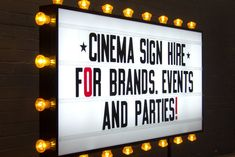 Cinema Sign Hire - HIRE/RENT LONDON Cinema Lightbox Rental – Goodwin & Goodwin™ - Signs with Soul! London Sign Makers UK