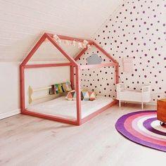Montessori Room - Just Real Moms Baby Bedroom, Girls Bedroom, Play Corner, Deco Kids, Montessori Baby, Montessori Bedroom, House Beds, Big Girl Rooms, Boy Rooms