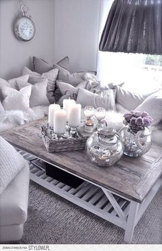 living room gray and silver gorgeousness